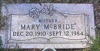 MCBRIBE, MARY - Pinal County, Arizona | MARY MCBRIBE - Arizona Gravestone Photos