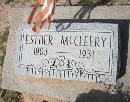 MCCLEERY, ESTHER - Pinal County, Arizona | ESTHER MCCLEERY - Arizona Gravestone Photos