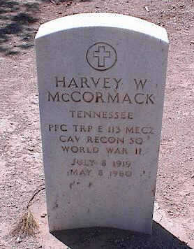 MCCORMACK, HARVEY W. - Pinal County, Arizona | HARVEY W. MCCORMACK - Arizona Gravestone Photos