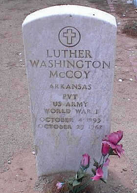 MCCOY, LUTHER WASHINGTON - Pinal County, Arizona | LUTHER WASHINGTON MCCOY - Arizona Gravestone Photos