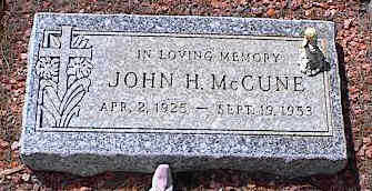 MCCUNE, JOHN H. - Pinal County, Arizona | JOHN H. MCCUNE - Arizona Gravestone Photos