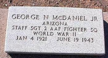 MCDANIEL, GEORGE N., JR. - Pinal County, Arizona | GEORGE N., JR. MCDANIEL - Arizona Gravestone Photos