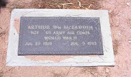 MCFADDEN, ARTHUR WM. - Pinal County, Arizona | ARTHUR WM. MCFADDEN - Arizona Gravestone Photos