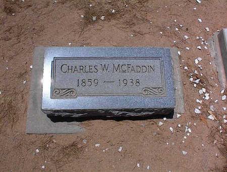 MCFADDEN, CHARLES W. - Pinal County, Arizona | CHARLES W. MCFADDEN - Arizona Gravestone Photos