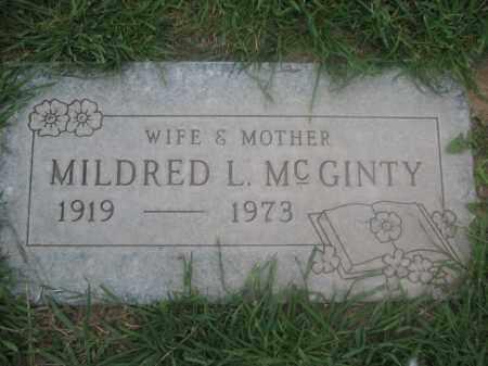 MCGINTY, MILDRED L. - Pinal County, Arizona   MILDRED L. MCGINTY - Arizona Gravestone Photos