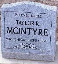 MCINTYRE, TAYLOR R. - Pinal County, Arizona   TAYLOR R. MCINTYRE - Arizona Gravestone Photos