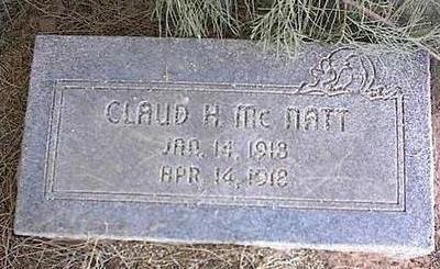 MCNATT, CLAUD H. - Pinal County, Arizona | CLAUD H. MCNATT - Arizona Gravestone Photos