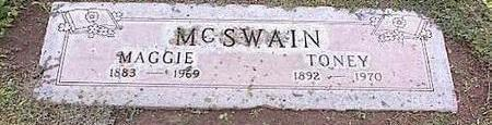 MCSWAIN, MAGGIE - Pinal County, Arizona | MAGGIE MCSWAIN - Arizona Gravestone Photos