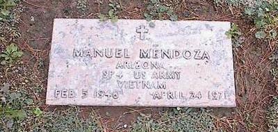 MENDOZA, MANUEL - Pinal County, Arizona | MANUEL MENDOZA - Arizona Gravestone Photos