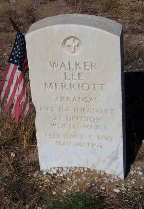 MERRIOTT, WALKER LEE - Pinal County, Arizona | WALKER LEE MERRIOTT - Arizona Gravestone Photos