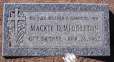 MIDDLETON, MACKIE D. - Pinal County, Arizona | MACKIE D. MIDDLETON - Arizona Gravestone Photos