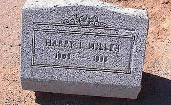 MILLER, HARRY L. - Pinal County, Arizona   HARRY L. MILLER - Arizona Gravestone Photos