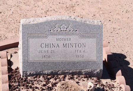 MINTON, CHINA - Pinal County, Arizona | CHINA MINTON - Arizona Gravestone Photos