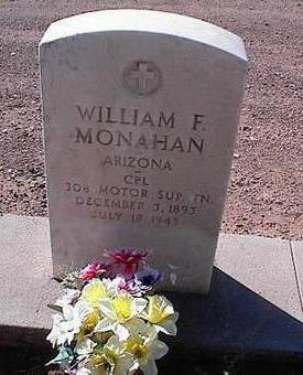 MONAHAN, WILLIAM F. - Pinal County, Arizona | WILLIAM F. MONAHAN - Arizona Gravestone Photos