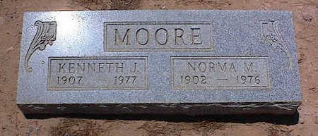 MOORE, KENNETH J. - Pinal County, Arizona | KENNETH J. MOORE - Arizona Gravestone Photos