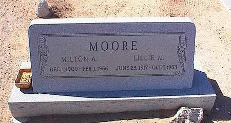 MOORE, MILTON A. - Pinal County, Arizona | MILTON A. MOORE - Arizona Gravestone Photos