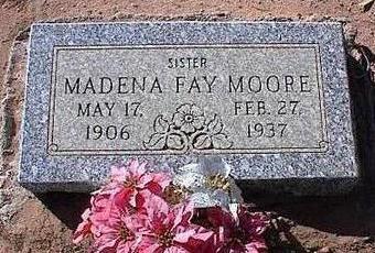 JOHNSTON MOORE, MADENA FAY - Pinal County, Arizona   MADENA FAY JOHNSTON MOORE - Arizona Gravestone Photos