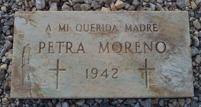 MORENO, PETRA - Pinal County, Arizona   PETRA MORENO - Arizona Gravestone Photos