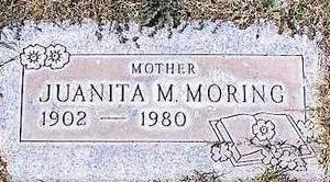 MORING, JUANITA M. - Pinal County, Arizona | JUANITA M. MORING - Arizona Gravestone Photos