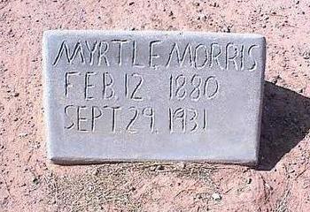 MORRIS, MYRTLE - Pinal County, Arizona | MYRTLE MORRIS - Arizona Gravestone Photos