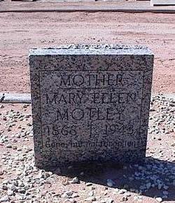 MOTLEY, MARY ELLEN - Pinal County, Arizona   MARY ELLEN MOTLEY - Arizona Gravestone Photos