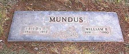 MUNDUS, WILLIAM B. - Pinal County, Arizona | WILLIAM B. MUNDUS - Arizona Gravestone Photos