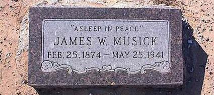 MUSICK, JAMES W. - Pinal County, Arizona | JAMES W. MUSICK - Arizona Gravestone Photos