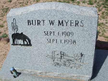 MYERS, BURT W. - Pinal County, Arizona | BURT W. MYERS - Arizona Gravestone Photos