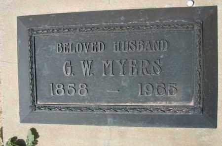MYERS, G. W. - Pinal County, Arizona   G. W. MYERS - Arizona Gravestone Photos