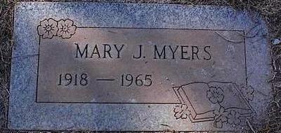 MYERS, MARY J. - Pinal County, Arizona | MARY J. MYERS - Arizona Gravestone Photos