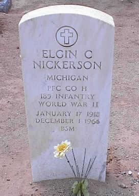 NICKERSON, ELGIN C. - Pinal County, Arizona   ELGIN C. NICKERSON - Arizona Gravestone Photos