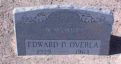 OVERLA, EDWARD D. - Pinal County, Arizona | EDWARD D. OVERLA - Arizona Gravestone Photos