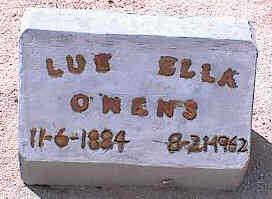 OWENS, LUE ELLA - Pinal County, Arizona | LUE ELLA OWENS - Arizona Gravestone Photos