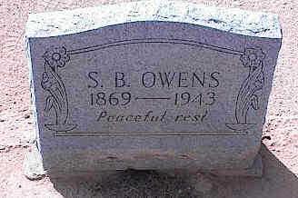 OWENS, S. B. - Pinal County, Arizona   S. B. OWENS - Arizona Gravestone Photos