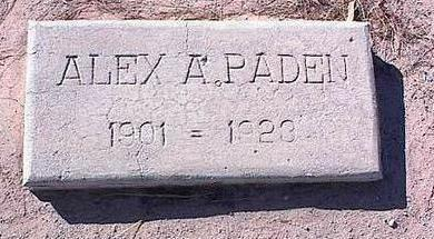 PADEN, ALEX A. - Pinal County, Arizona | ALEX A. PADEN - Arizona Gravestone Photos