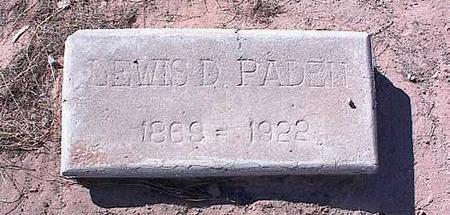 PADEN, LEWIS D. - Pinal County, Arizona | LEWIS D. PADEN - Arizona Gravestone Photos