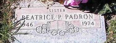 PADRON, BEATRICE P. - Pinal County, Arizona | BEATRICE P. PADRON - Arizona Gravestone Photos