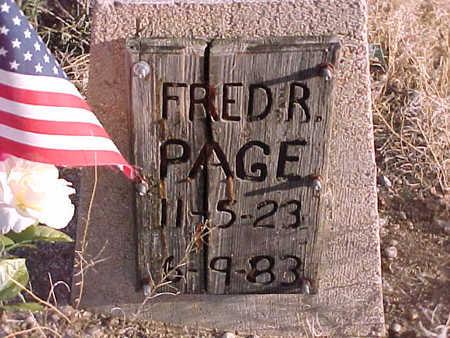 PAGE, FRED - Pinal County, Arizona | FRED PAGE - Arizona Gravestone Photos