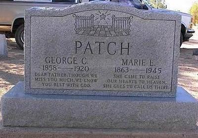PATCH, GEORGE C. - Pinal County, Arizona | GEORGE C. PATCH - Arizona Gravestone Photos