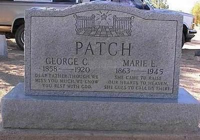 PATCH, MARIE E. - Pinal County, Arizona | MARIE E. PATCH - Arizona Gravestone Photos