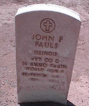 PAULS, JOHN P. - Pinal County, Arizona | JOHN P. PAULS - Arizona Gravestone Photos