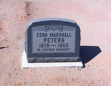 MARSHALL PETERS, EDNA - Pinal County, Arizona | EDNA MARSHALL PETERS - Arizona Gravestone Photos