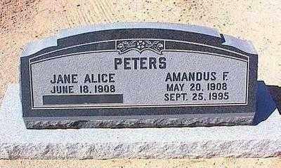 PETERS, AMANDUS FRITZ (PETE) - Pinal County, Arizona   AMANDUS FRITZ (PETE) PETERS - Arizona Gravestone Photos