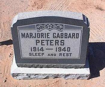 PETERS, MARJORIE GABBARD - Pinal County, Arizona | MARJORIE GABBARD PETERS - Arizona Gravestone Photos