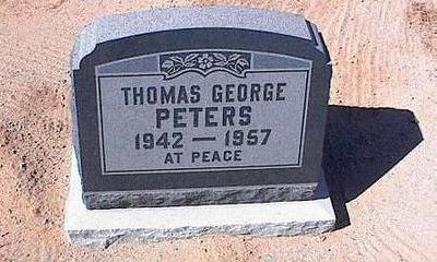 PETERS, THOMAS GEORGE - Pinal County, Arizona | THOMAS GEORGE PETERS - Arizona Gravestone Photos