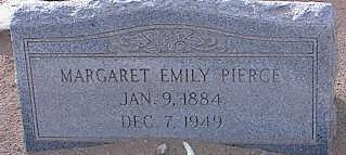 SCOTT PIERCE, MARGARET EMILY - Pinal County, Arizona | MARGARET EMILY SCOTT PIERCE - Arizona Gravestone Photos