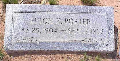PORTER, ELTON K. - Pinal County, Arizona | ELTON K. PORTER - Arizona Gravestone Photos