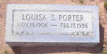 PORTER, LOUISA S. - Pinal County, Arizona | LOUISA S. PORTER - Arizona Gravestone Photos