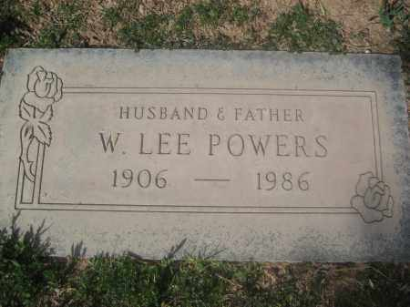 POWERS, W. LEE - Pinal County, Arizona   W. LEE POWERS - Arizona Gravestone Photos