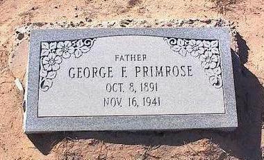 PRIMROSE, GEORGE F. - Pinal County, Arizona   GEORGE F. PRIMROSE - Arizona Gravestone Photos